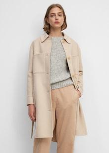 Kabát Marc O'Polo v svetlohnedej farbe