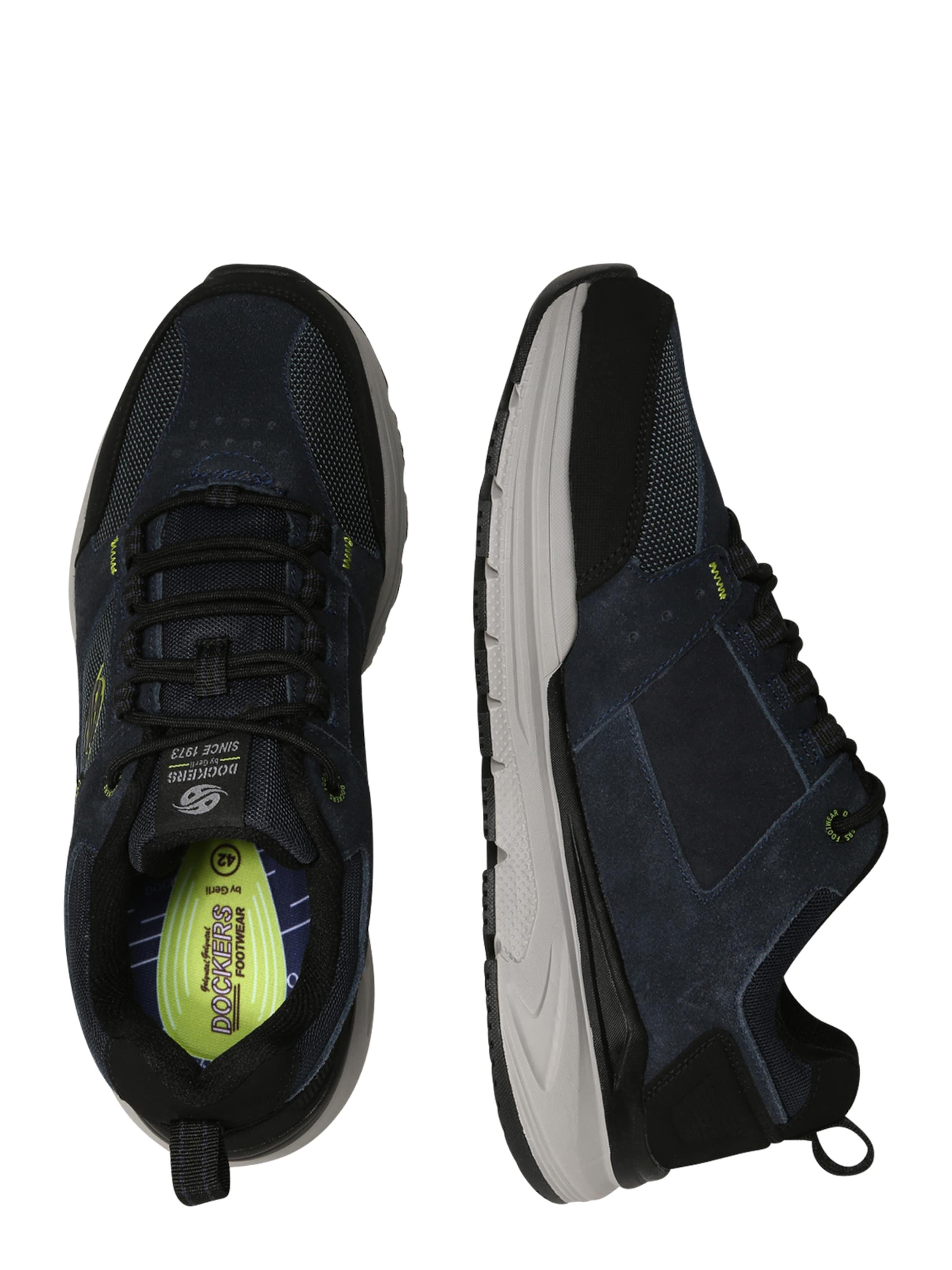Dockers by Gerli Låg sneaker i marinblå / grön