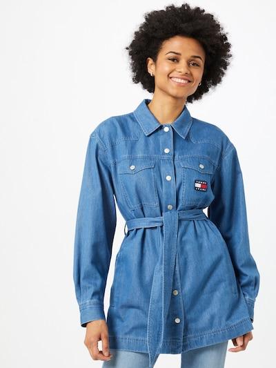 Tommy Jeans Bluse i blue denim, Modelvisning