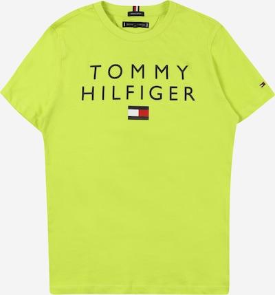 TOMMY HILFIGER Shirt in de kleur Nachtblauw / Neongroen / Vuurrood / Wit, Productweergave