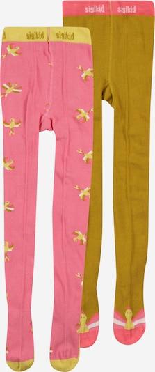 SIGIKID Strumpfhose in gelb / oliv / pink / weiß, Produktansicht