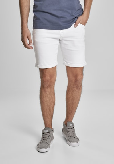 Urban Classics Shorts in white denim, Modelansicht