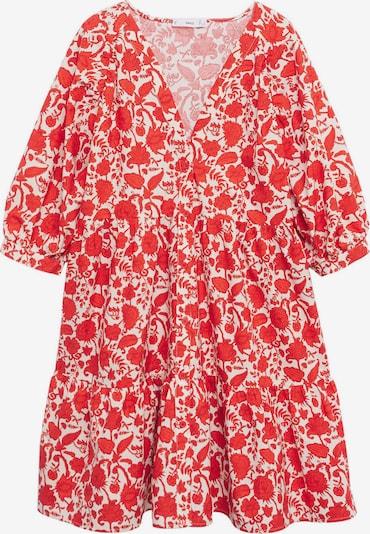 MANGO Рокля 'Olivia' в червено / бяло, Преглед на продукта