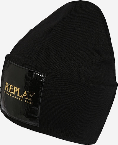 REPLAY Czapka w kolorze złoty / czarnym, Podgląd produktu