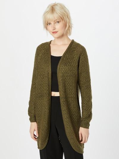 ICHI Strickjacke 'Olanda' in dunkelgrün, Modelansicht
