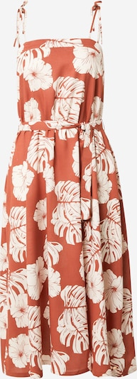 ROXY Kleid 'NOWHERE TO HIDE' in rostrot / naturweiß, Produktansicht