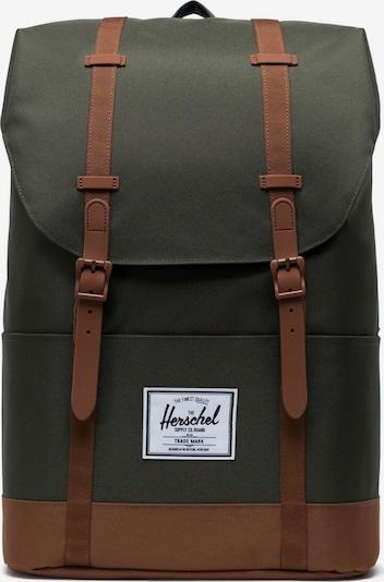 Herschel Раница в кафяво / зелено, Преглед на продукта