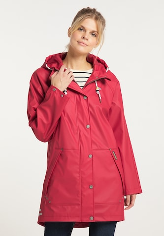 Schmuddelwedda Between-Seasons Coat in Red