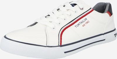 tengerészkék / piros / fehér TOM TAILOR Rövid szárú edzőcipők, Termék nézet