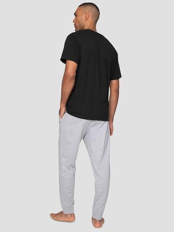 Threadbare Long Pajamas 'King PJ Set' in Black