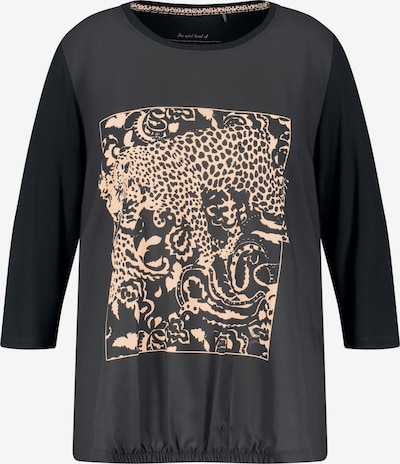 SAMOON Shirt in beige / schwarz, Produktansicht