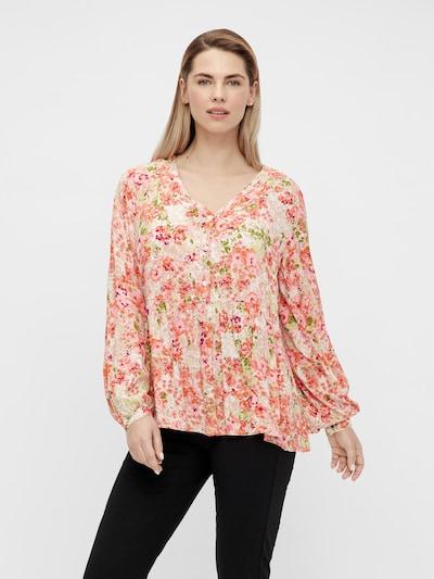 MAMALICIOUS Bluse 'Anya' in creme / grün / apricot / rosé, Modelansicht