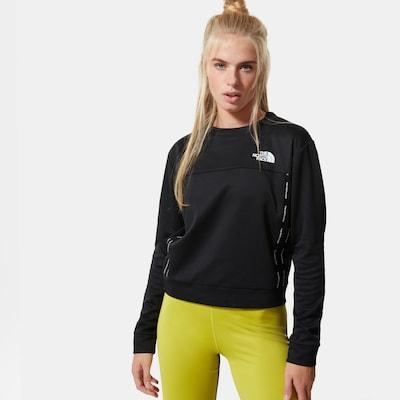 THE NORTH FACE Sweatshirt in schwarz / weiß: Frontalansicht