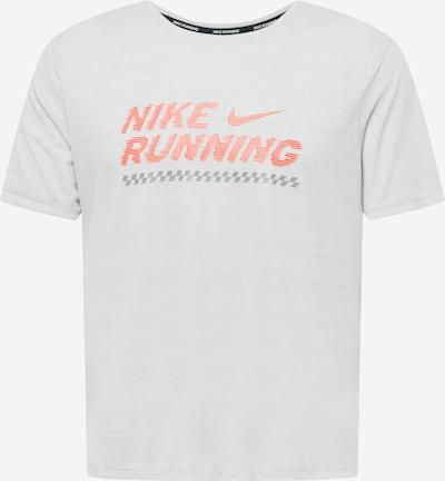 NIKE Functioneel shirt 'Miler Future Fast' in de kleur Grijs / Lichtgrijs / Koraal, Productweergave