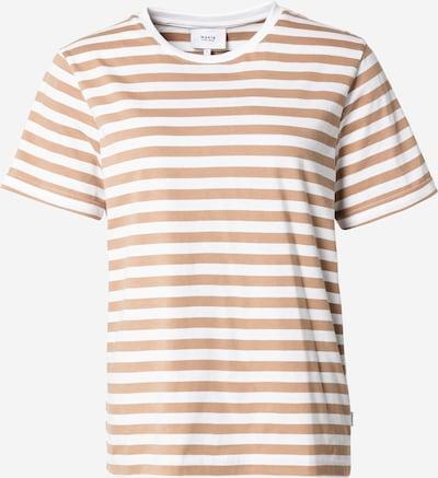 MAKIA Camiseta en marrón claro / blanco, Vista del producto