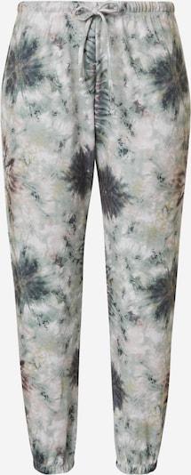 Onzie Pantalon de sport en bleu marine / vert pastel / violet foncé / blanc, Vue avec produit