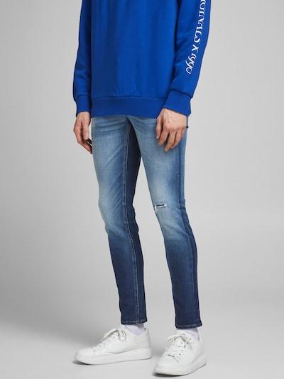 JACK & JONES Jeans 'Liam' in blue denim, Modelansicht