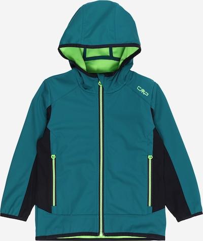 CMP Outdoorjas in de kleur Smaragd / Neongroen / Zwart, Productweergave
