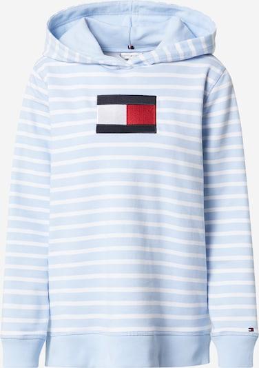 TOMMY HILFIGER Sweatshirt in de kleur Nachtblauw / Lichtblauw / Rood / Wit: Vooraanzicht