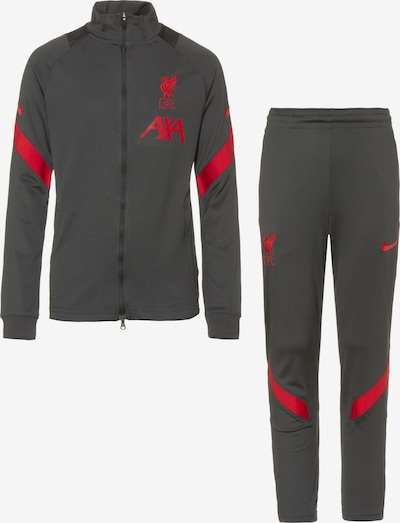 NIKE Trainingsanzug 'FC Liverpool' in anthrazit / merlot, Produktansicht