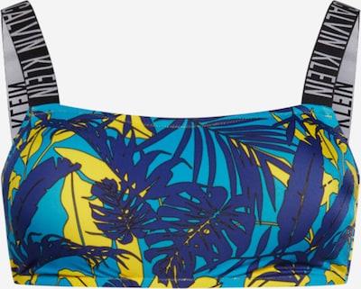 Sutien costum de baie Calvin Klein Swimwear pe albastru / turcoaz / galben / negru, Vizualizare produs
