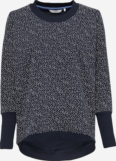 NÜMPH Sweat-shirt 'Nicola' en bleu marine / blanc, Vue avec produit