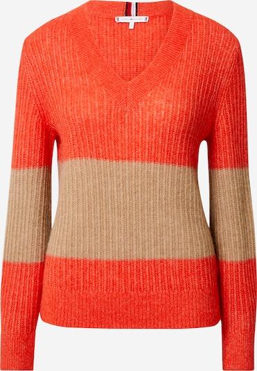 Megztinis iš TOMMY HILFIGER , spalva - smėlio / oranžinė-raudona, Prekių apžvalga