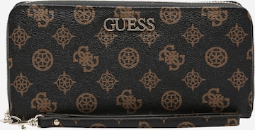 GUESS Wallet 'Alby' in Brown