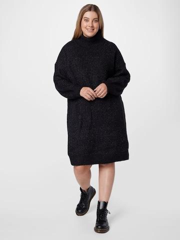Noisy May Curve Gebreide jurk 'ROBINA' in Grijs