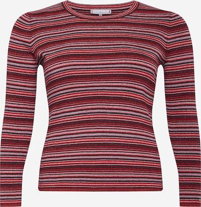 Tommy Hilfiger Curve Trui in de kleur Roestbruin / Grijs / Magenta / Rood, Productweergave