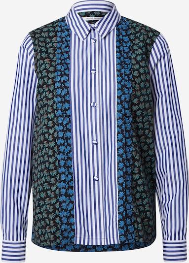 WOOD WOOD Blouse 'Catherine' in de kleur Blauw / Zwart / Wit, Productweergave
