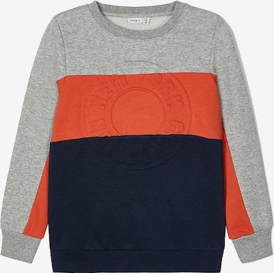 Bluză de molton 'Siger' NAME IT pe marine / gri amestecat / roșu orange, Vizualizare produs