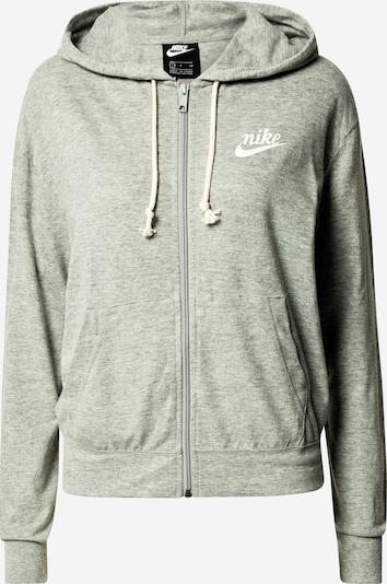 Nike Sportswear Sudadera con cremallera en gris moteado / blanco, Vista del producto
