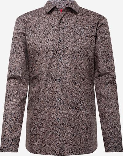 HUGO Overhemd 'Elisha' in de kleur Ombergrijs / Lichtbruin, Productweergave