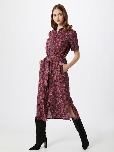 FRNCH PARIS Košilové šaty - fialová / růžová / červená / černá, Model/ka