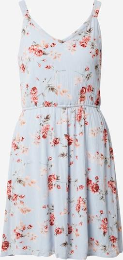 ONLY Kleid 'KARMEN' in opal / dunkelgrün / puder / rostrot, Produktansicht