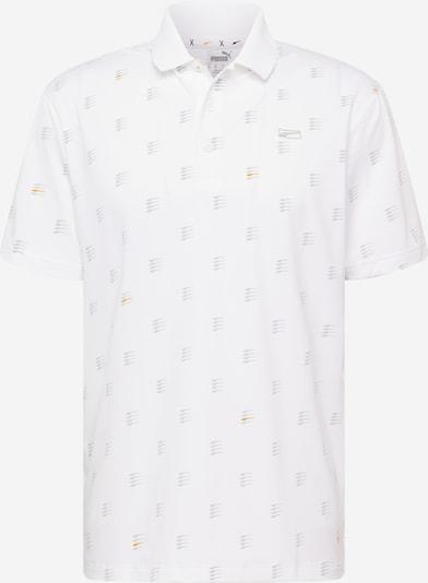 PUMA Poloshirt in silbergrau / dunkelorange / weiß, Produktansicht