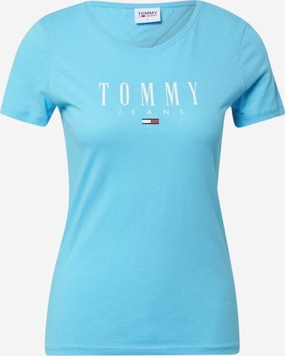 Tommy Jeans T-shirt en bleu / blanc, Vue avec produit