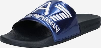 EA7 Emporio Armani Чехли в синьо меланж / бяло, Преглед на продукта