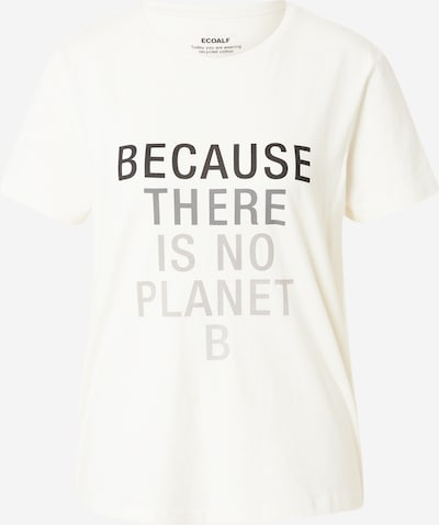 ECOALF T-shirt 'BECAUSE' en beige / gris / noir, Vue avec produit