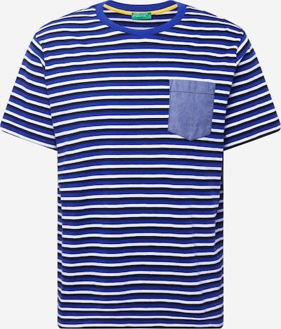 UNITED COLORS OF BENETTON T-Shirt in blau / dunkelblau / weiß, Produktansicht