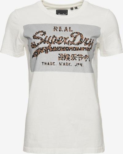 Superdry T-Shirt 'Vintage' in braun / schwarz / silber / weiß, Produktansicht