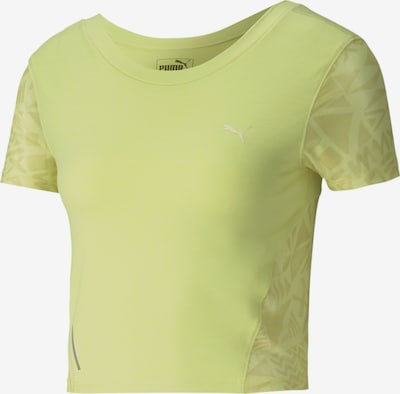 PUMA Studio Graphic Mesh Damen Training T-Shirt in grün, Produktansicht