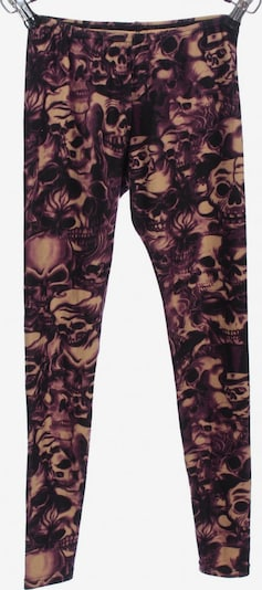 UNBEKANNT Leggings in S in lila / schwarz / wollweiß, Produktansicht