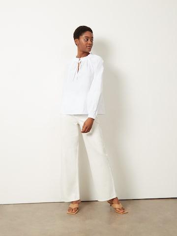 Aligne Bandplooi jeans 'Carlotta' in Beige