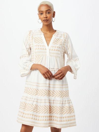 TOM TAILOR Kleid in beige / weiß, Modelansicht