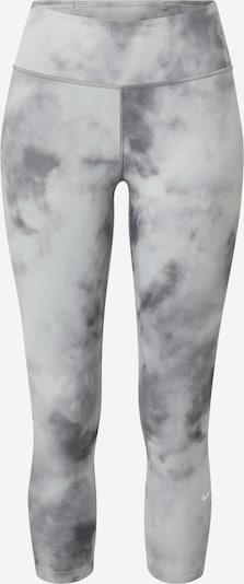 NIKE Спортен панталон в светлосиво / тъмносиво / бяло, Преглед на продукта