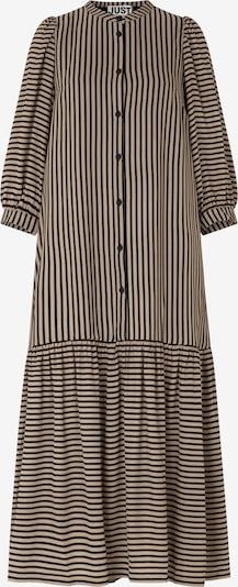 JUST FEMALE Košulja haljina 'Colorado' u svijetlosmeđa / crna, Pregled proizvoda