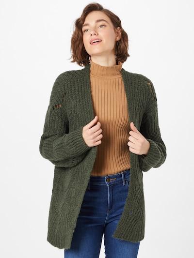 ABOUT YOU Strickjacke 'Fiona' in dunkelgrün, Modelansicht