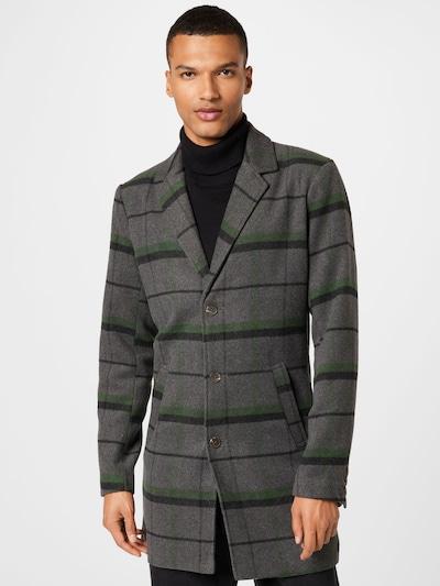 !Solid Prijelazni kaput 'SDTave' u siva melange / zelena / crna, Prikaz modela